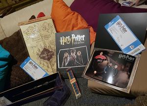 Ausbeute von der Ausstellung Harry Potter: The Exhibition